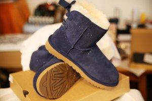 UGG Snow Boots dark blue suede