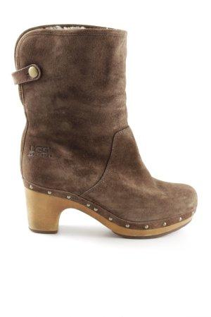 UGG Absatz Stiefel bronzefarben Casual-Look