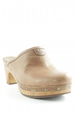 UGG Australia Heel Pantolettes light brown-brown Boho look