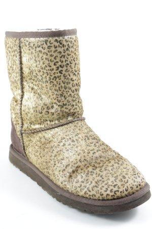 UGG Australia Booties braun-goldfarben Animalmuster Animal-Look