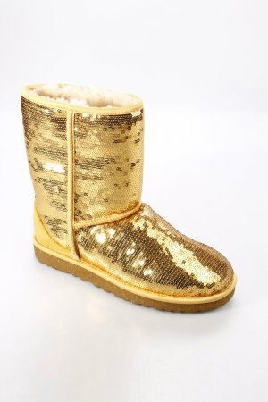 UGG Australia Boots gold-colored extravagant style