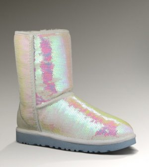 UGG Australia Snow Boots white-pink leather