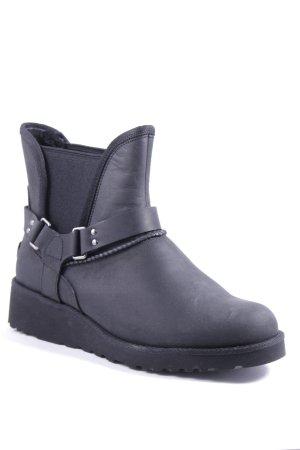UGG Australia Chelsea Boots schwarz Logo-Applikation aus Metall
