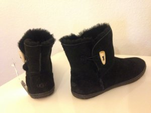 UGG Australia GARNET Stiefelette Damen Lammfell Boots Schwarz 39 ClassicUggs NEU