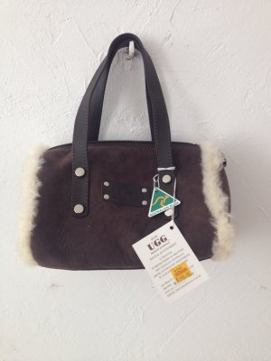 UGG Australia Carry Bag dark brown-beige leather