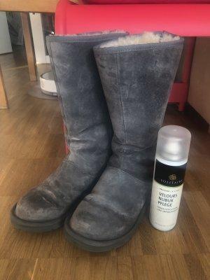 UGG Australia Knightsbridge 5119 Boots Stiefel Grey 39 Reißverschluss mit Pflege