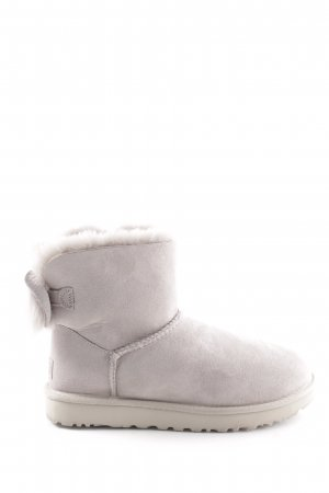 "UGG Australia Short Boots ""W Fluff Bow Mini Willow"" light grey"