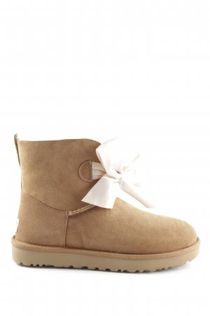"UGG Australia Short Boots ""W Gita Bow Mini Chestnut"" light brown"