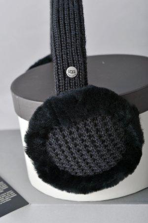 UGG AUSTRALIA Lammfell Ohrenschützer OVP schwarz ungetragen Ohrenwärmer
