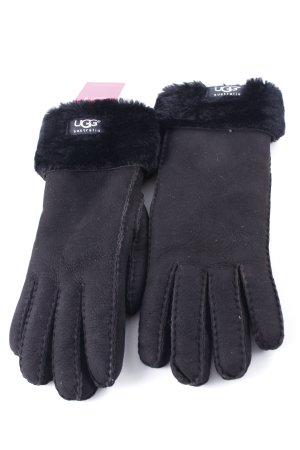 UGG Australia Lederhandschuhe schwarz Casual-Look