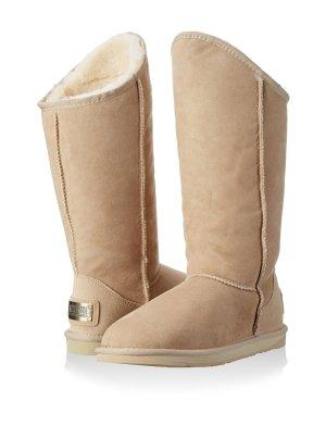 UGG Australia Luxe Stiefel Boots Gr 38 hellbraun Lammfell NEU OVP sand / puder