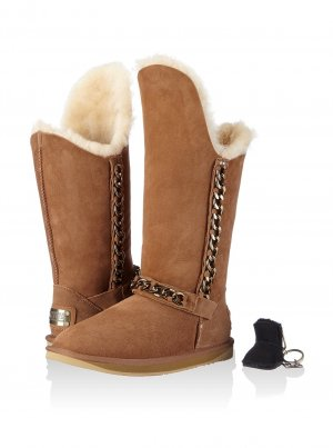 UGG Australia Snow Boots brown-cream leather