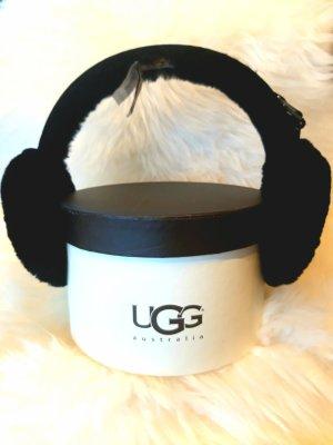 UGG Australia Ohrenwärmer Earmuff  Logo  Lammfell schwarz  inklusive Box neu mit Etikett von UGG Australia