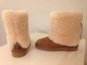 UGG Australia PATTEN Winter Lammfell Boots 37 Chestnut beige Uggs NEU &ORIGINAL