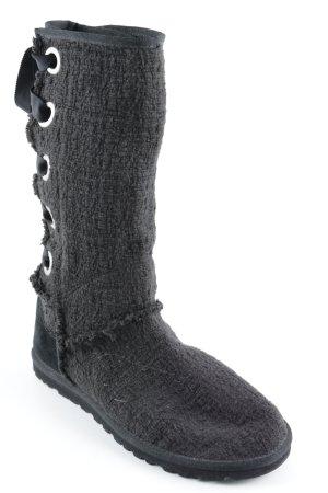 UGG Australia Schlüpf-Stiefeletten schwarz Kuschel-Optik