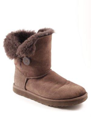 UGG Australia Botas de nieve marrón grisáceo look casual