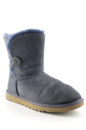 UGG Australia Snowboots stahlblau Street-Fashion-Look