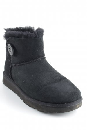 "UGG Australia Snowboots ""W Mini Bailey Button II Black 37"" schwarz"