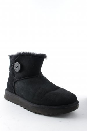 "UGG Australia Snowboots ""W Mini Bailey Button II Black 37"" schwarz"