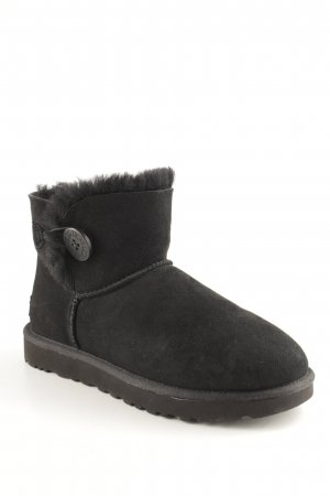 "UGG Australia Botas de nieve ""W Mini Bailey Button II Black"" negro"