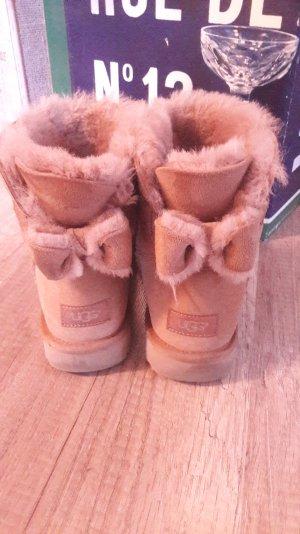 Ugg Australia Uggs Boots Naveah Sheepskin Chestnut Schleife Bow 40