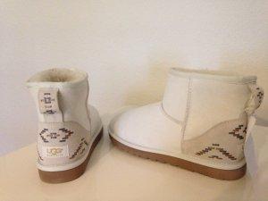 UGG Australia W CLASSIC MINI RUSTIC WEAVE Lammfell Boots 40 Uggs NEU & ORIGINAL