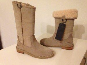 UGG Australia W DAPHNE Winterstiefel Leder Lammfell Boots 37 Sugar Pine Uggs NEU