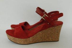 UGG AUSTRALIA Wedges Pantoletten Sandalen Gr. 40 rot - NEU