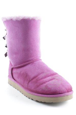 UGG Australia Winterstiefel pink-schwarz Casual-Look