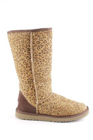 UGG Australia Winterstiefel sandbraun-graubraun Leomuster Animal-Look