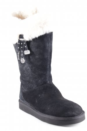 UGG Australia Winterstiefel schwarz-creme Casual-Look