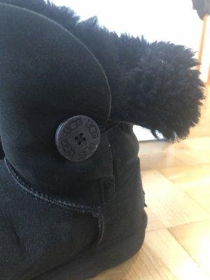 UGG Fur Boots black suede