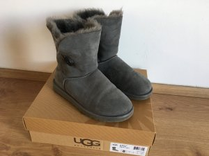 UGG Australia Boots silver-colored suede