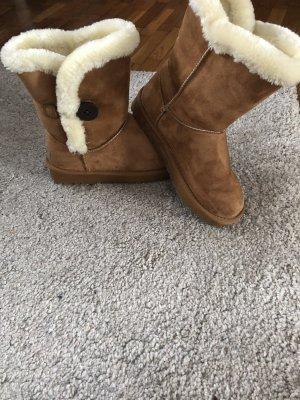 UGG Bottes de neige marron clair-crème