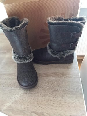 UGG Fur Boots black brown-dark brown