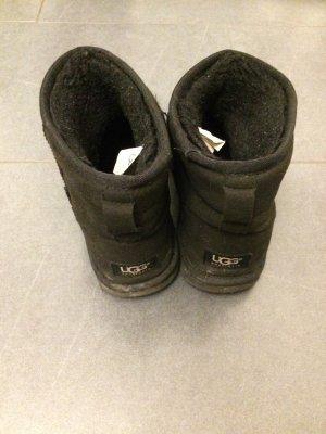 UGG Australia Laarzen met bont zwart Suede