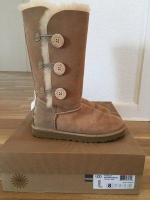 UGG Boots BAILEY BUTTON TRIPLET beige (Größe 39)