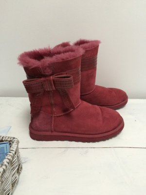 UGG Boots Bordeaux Rot Gr.37 mit Schleife