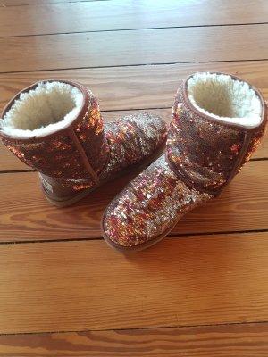 Ugg Boots braun-gold
