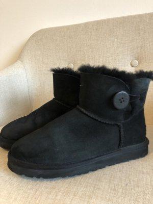 Ugg Boots Button Low Schwarz
