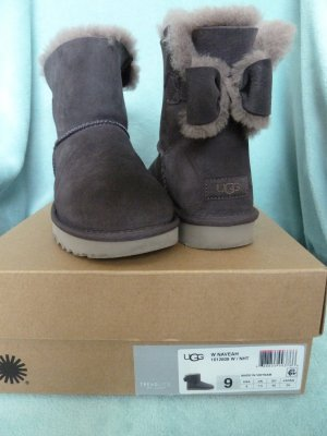UGG Snow Boots grey leather