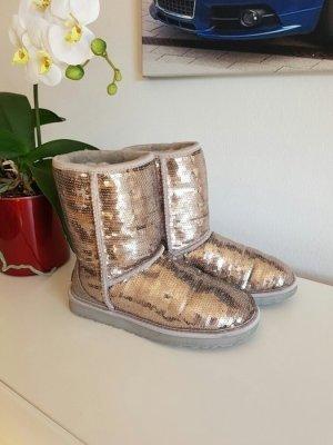 UGG Australia Desert Boots silver-colored-cream fur