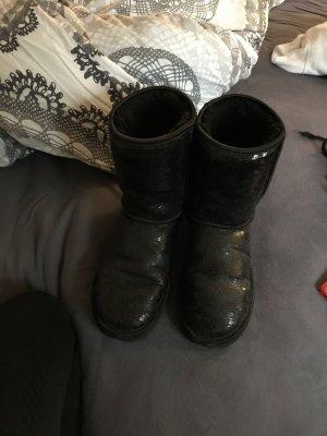 Ugg Boots Glitzer schwarz