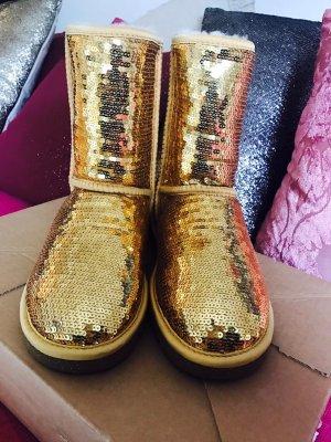 UGG Boots gold Pailletten / 37 / NEU