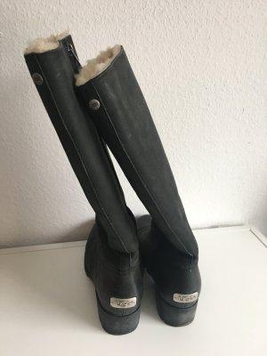 UGG Boots Gr. 38 Leder schwarz