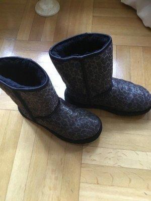 UGG Australia Bottes de neige noir-brun sable