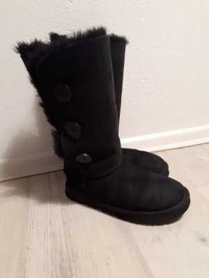 Ugg Boots Hoch Bailey Button Schwarz