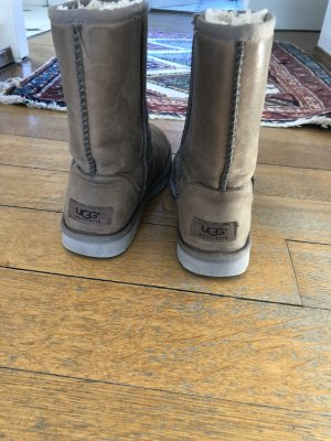 UGG Snow Boots grey brown leather