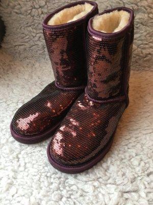 Ugg Boots Lila mit Pailletten, Größe 37-Neuwertig❤