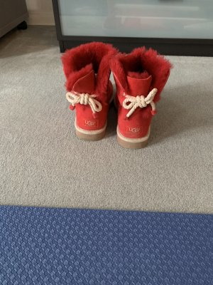 UGG Ankle Boots red suede